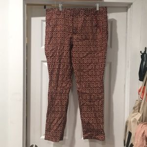 Red Anthropologie Cartonnier pants